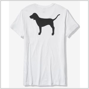 VS PINK LARGE DOG GRAPHIC CAMPUS TEE~